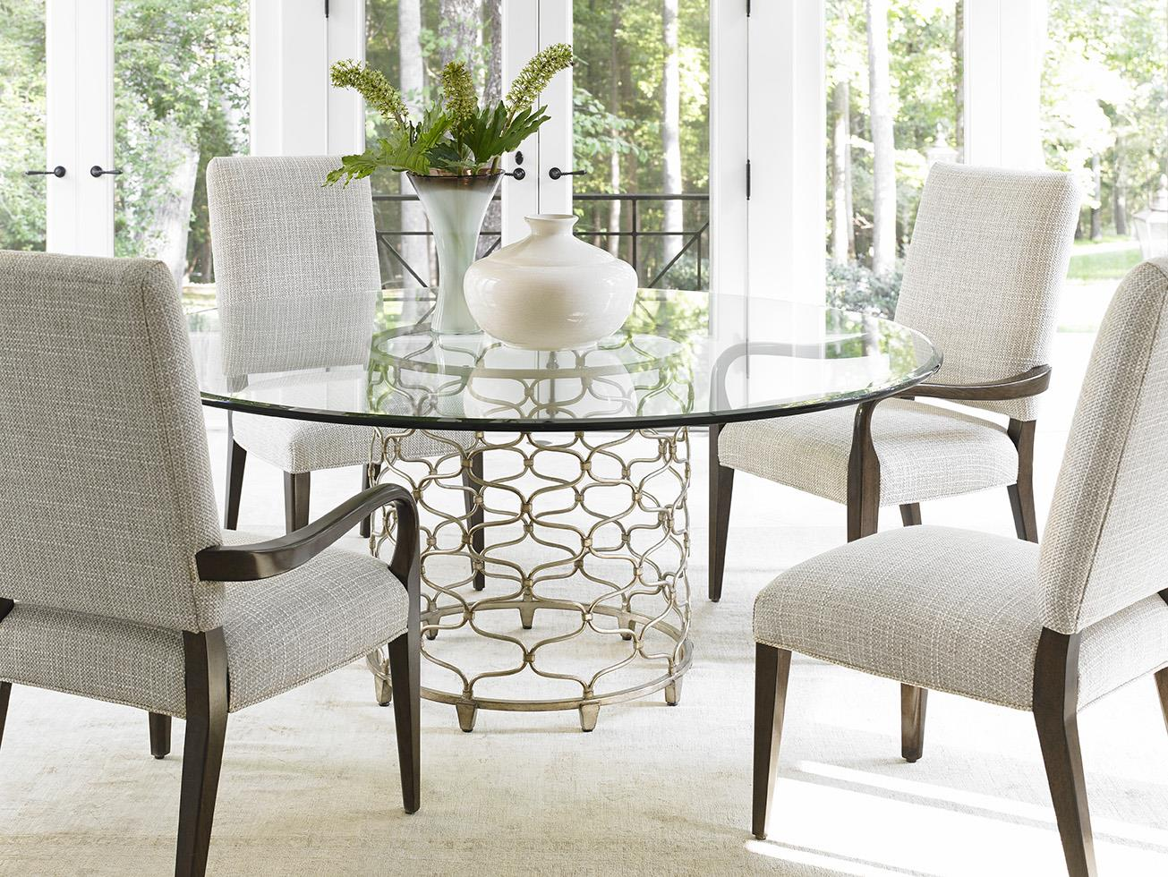 lexington dining chairs yellow club chair laurel canyon five piece set with