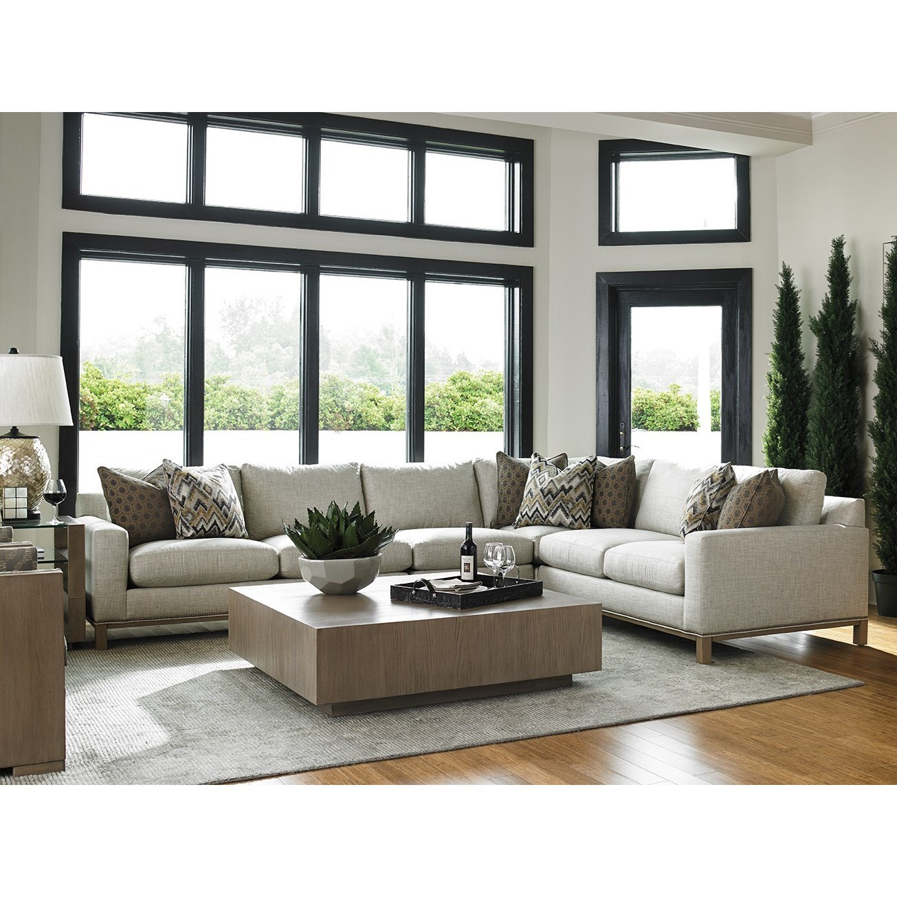 lexington sectional sofa shabby chic white table upholstery chronicle four piece