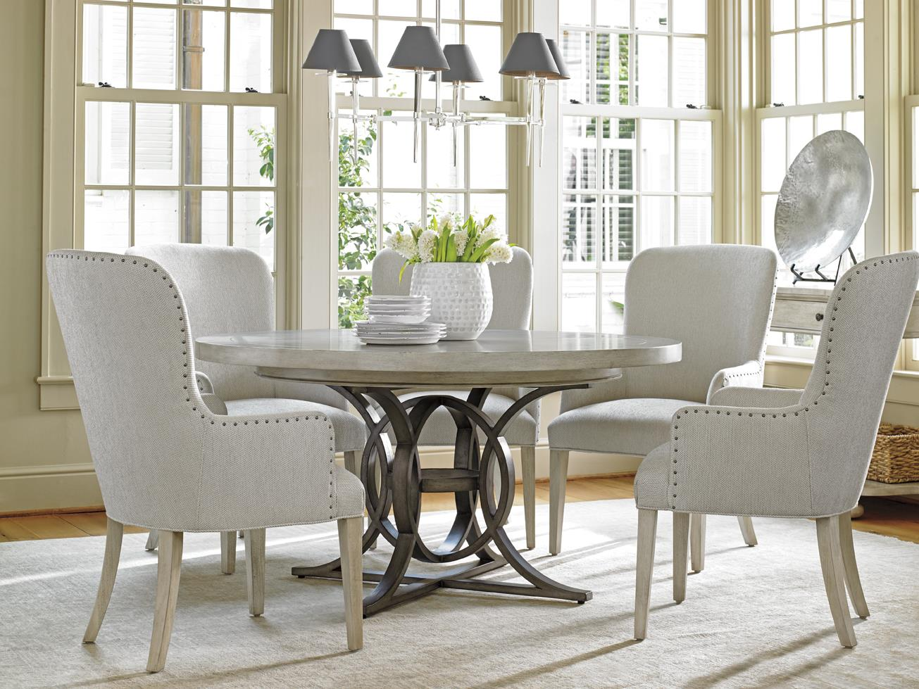 lexington dining chairs grey desk chair oyster bay six piece set with calerton