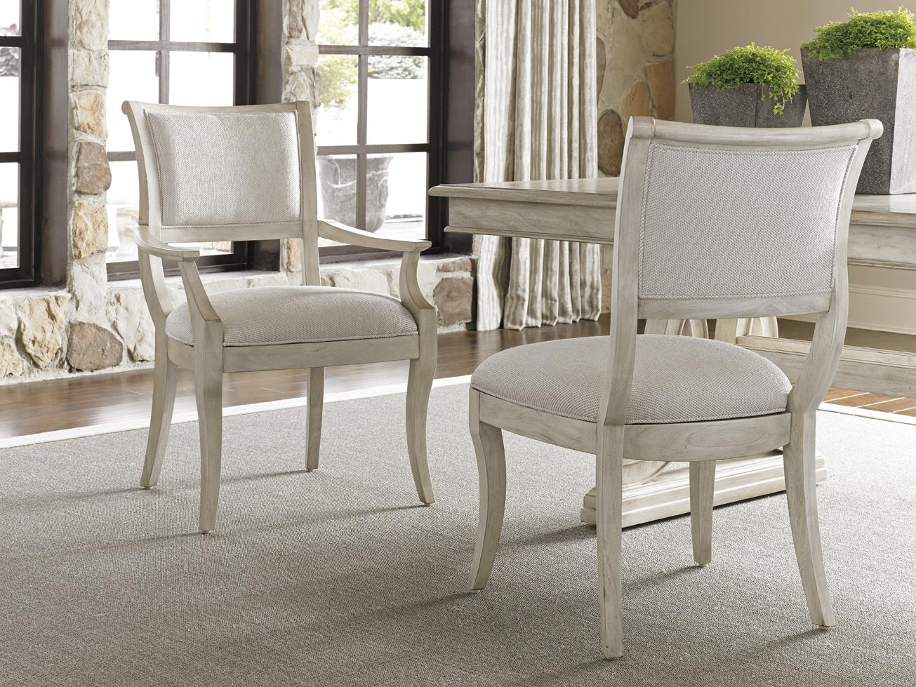 lexington dining chairs unique leather office oyster bay eastport arm chair in sea pearl