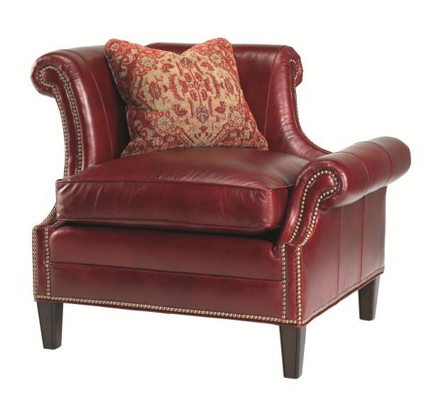 Lexington Lexington Leather Left Leaning Braddock Upholstered Chair   Belfort Furniture ...
