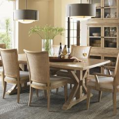 Lexington Dining Chairs Metal Outdoor Table And Monterey Sands Seven Piece Walnut Creek