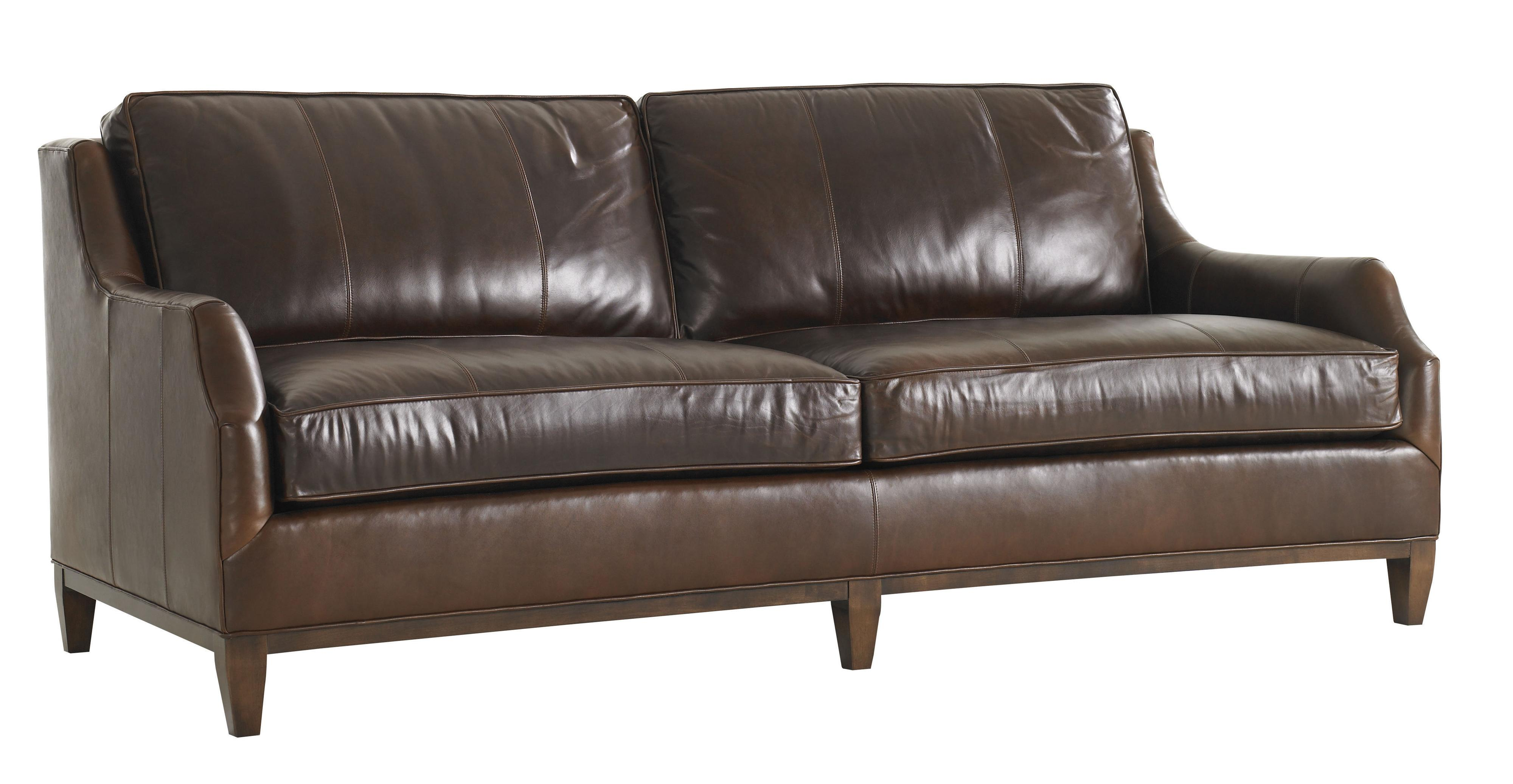 conversational sofa cover cordovan leather lexington tower place ll7991 33 contemporary conrad