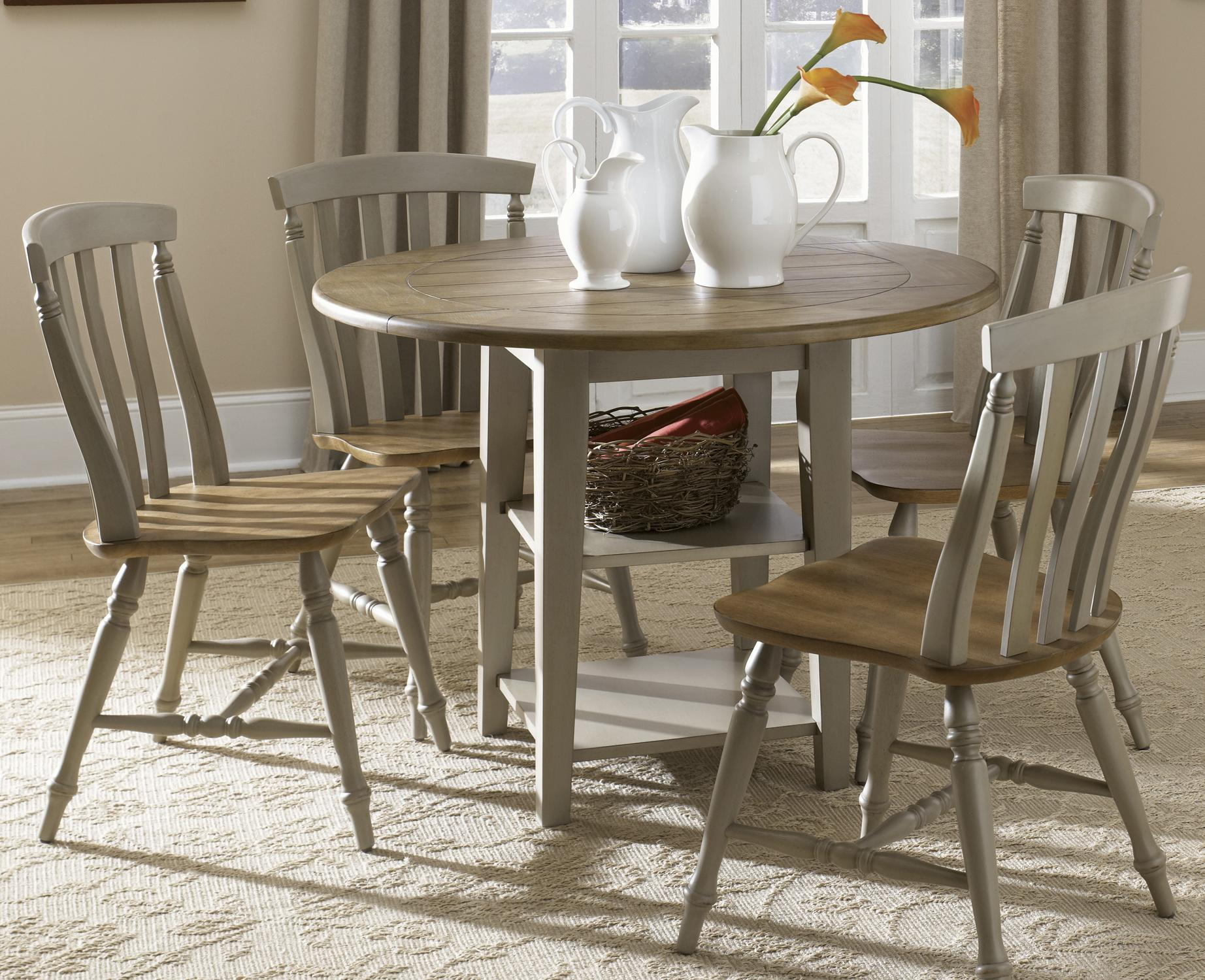 Drop Leaf Table With Chairs Liberty Furniture Al Fresco 541 Cd 5dls 5 Piece Drop Leaf
