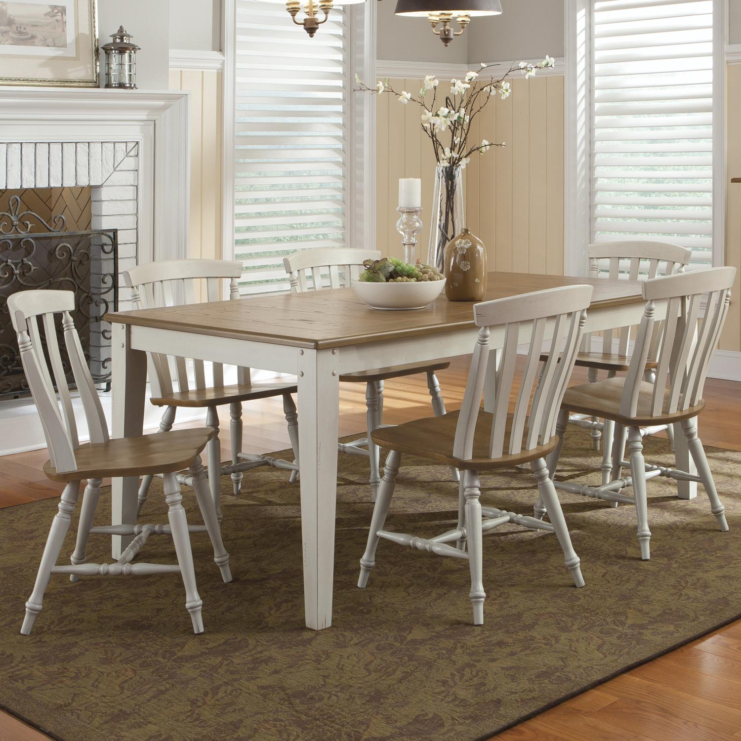 al s chairs and tables country dining liberty furniture fresco iii 841 cd 7rls seven piece