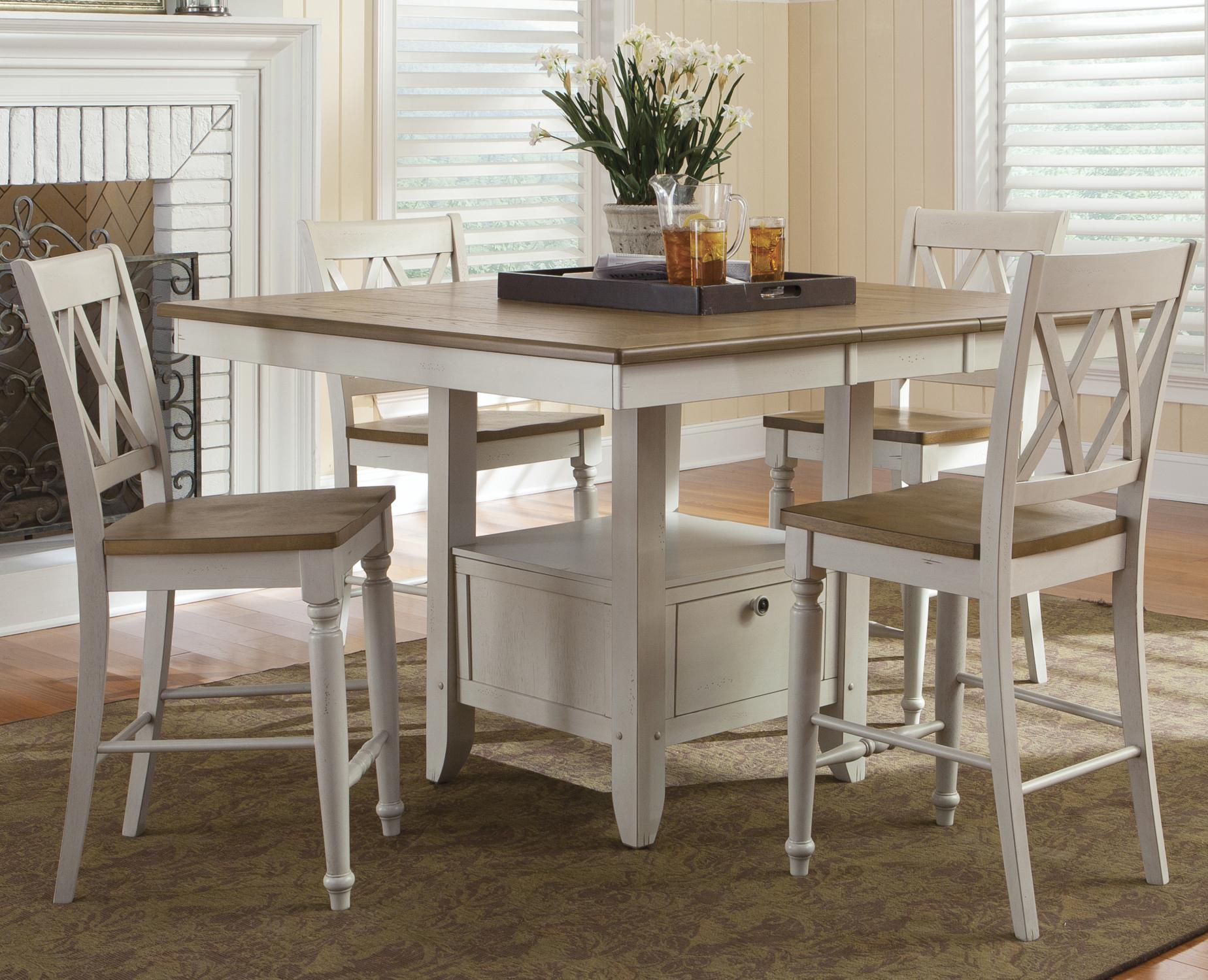 al s chairs and tables bubble chair stand uk liberty furniture fresco iii five piece gathering table
