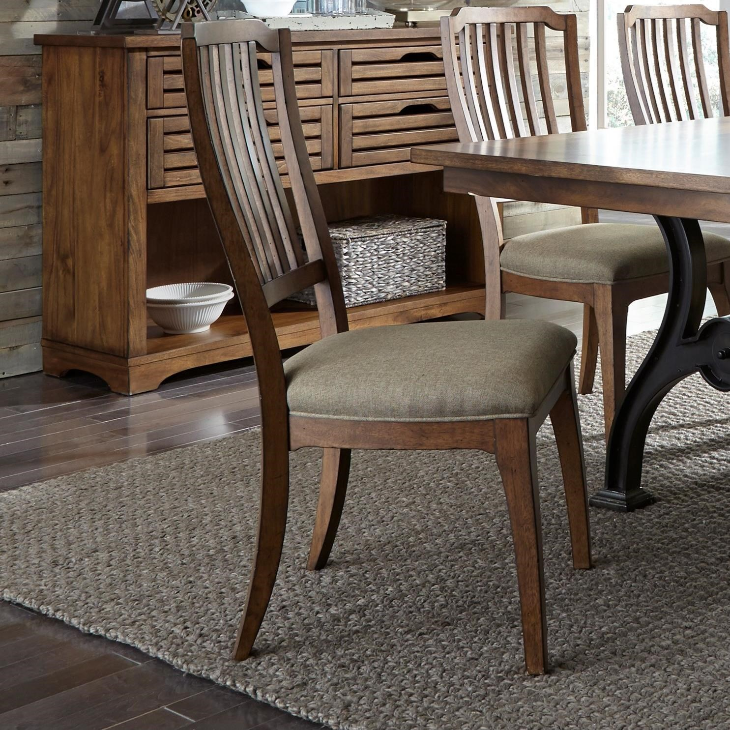 liberty dining chairs how to put chair rail molding furniture arlington spindle back side