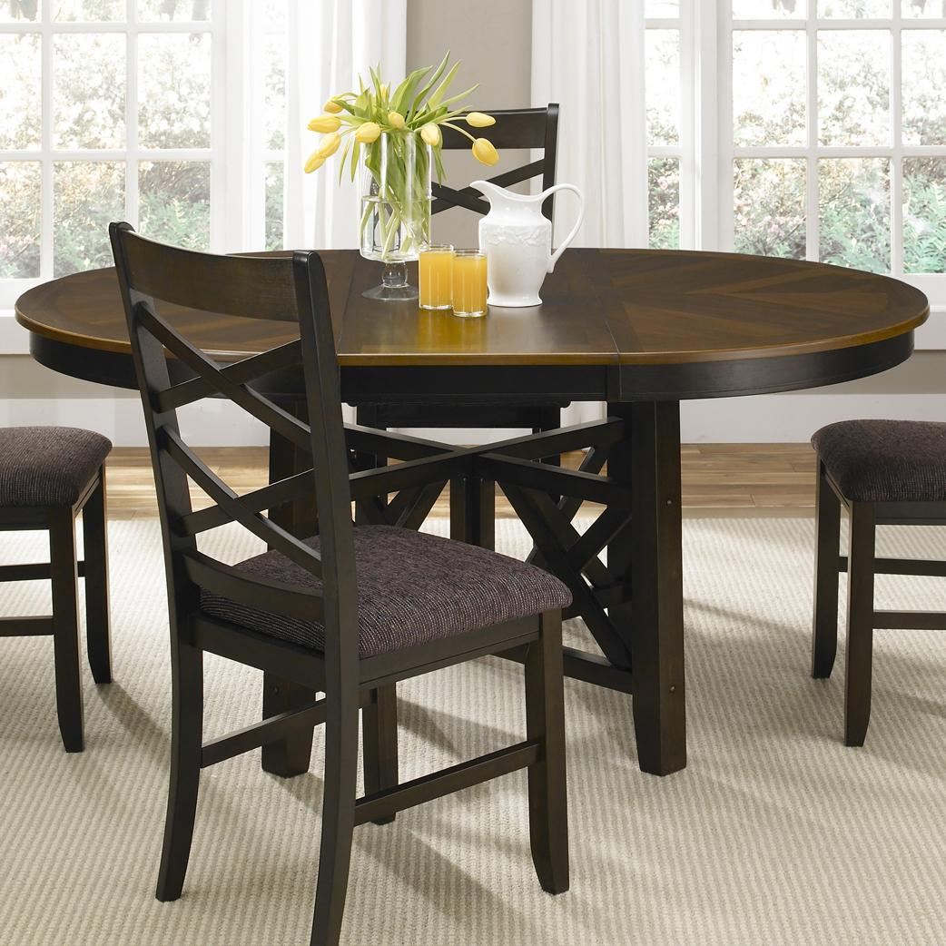 Pedestal Chairs Colby Round To Oval Single Pedestal Dining Table With 18