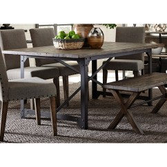 Pewter Kitchen Table And Chairs Folding At Walmart Liberty Furniture Caldwell Industrial Trestle Dining