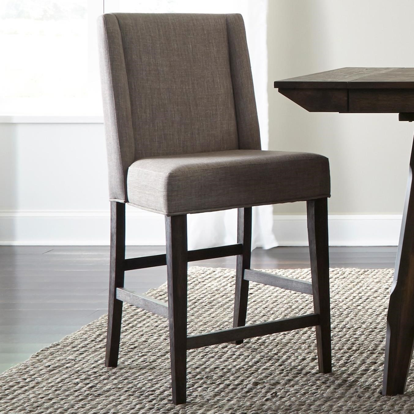 upholstered counter chairs cowhide chair covers liberty furniture double bridge contemporary