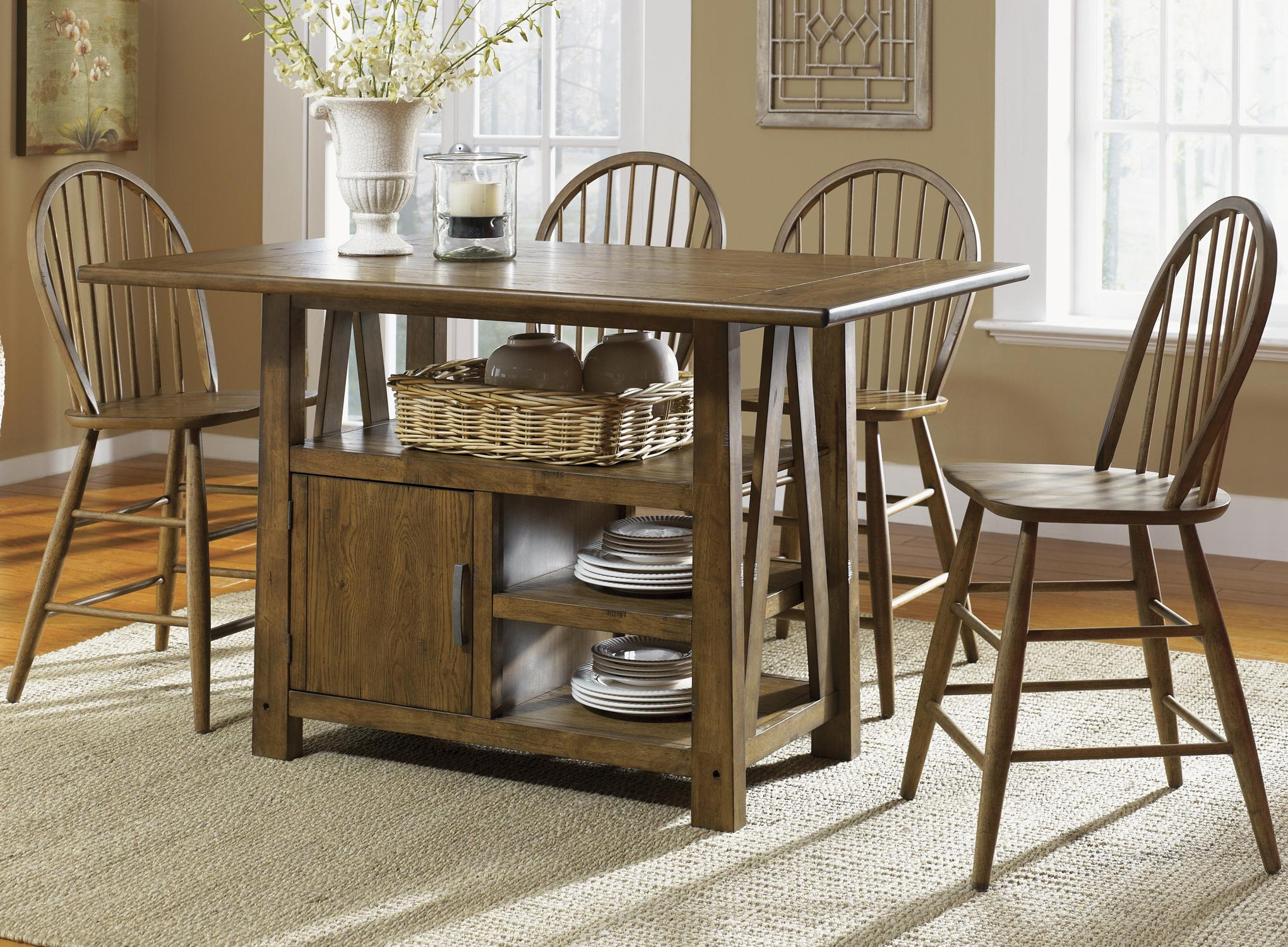 farmhouse tables and chairs forest dental chair 5 piece island pub table windsor back