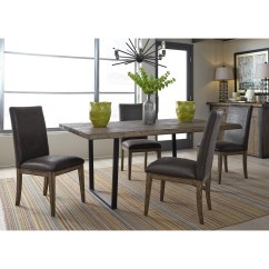 Springs For Dining Chairs Tufted Back Chair Liberty Furniture Haley 5 Piece Modern Rustic