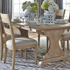 Liberty Dining Chairs Graco High Chair Straps Furniture Harbor View Trestle Table And 4 Slat