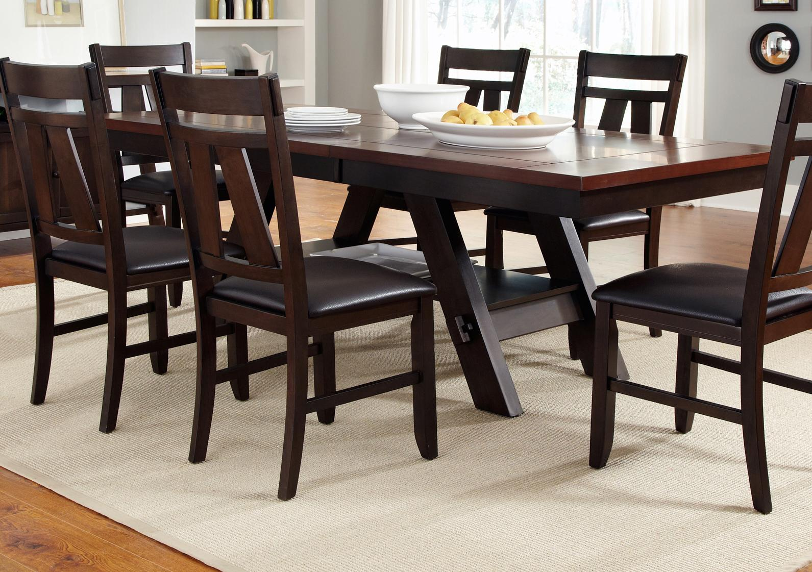 Rectangle Kitchen Table And Chairs Cityscape Trestle Rectangular Dining Table Rotmans
