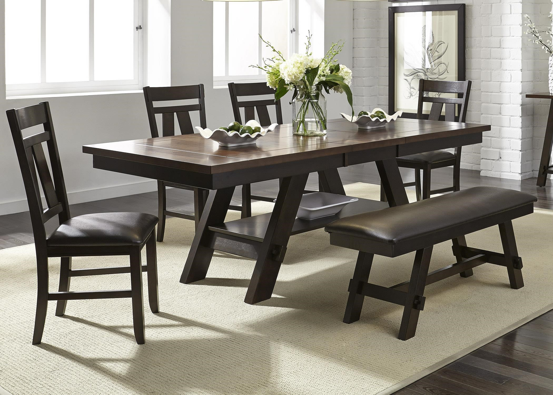 liberty dining chairs lower back chair support furniture lawson 5 piece set includes table