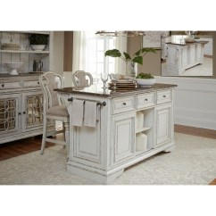 Counter Height Kitchen Island Free Design Liberty Furniture Magnolia Manor Dining And