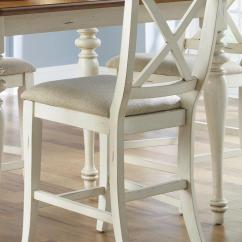 Upholstered Counter Height Chairs Swing Chair Grey Liberty Furniture Ocean Isle 303 B300124 X Back