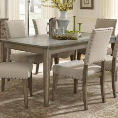 Breakfast Table And Chairs Set White Wicker Chair Liberty Furniture Weatherford Casual Rustic 7 Piece Dining