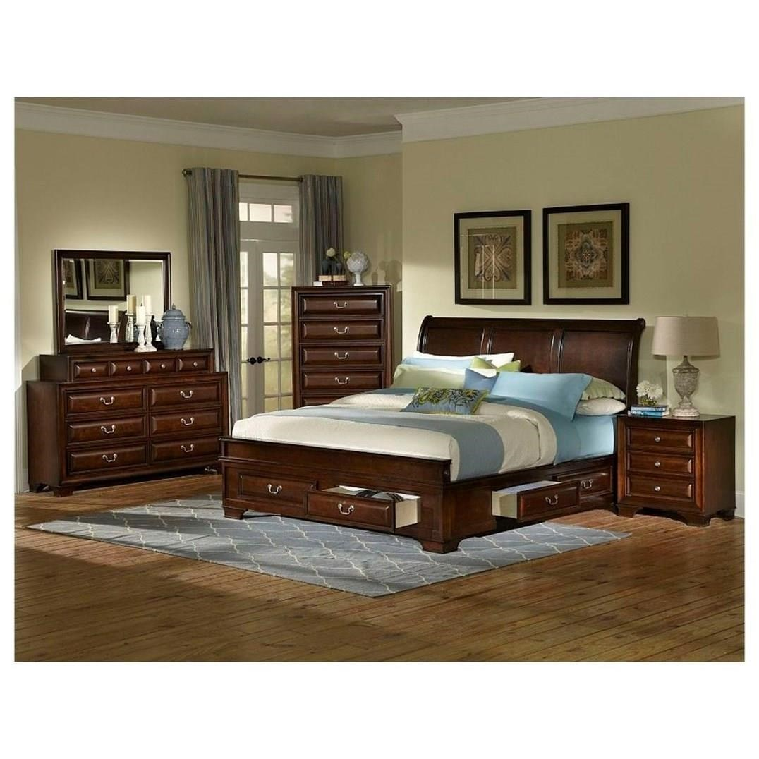 Lifestyle Todd Queen 5 Piece Bedroom Group  Royal