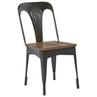 Magnolia Home by Joanna Gaines Boho Metal Cafe Chair with ...