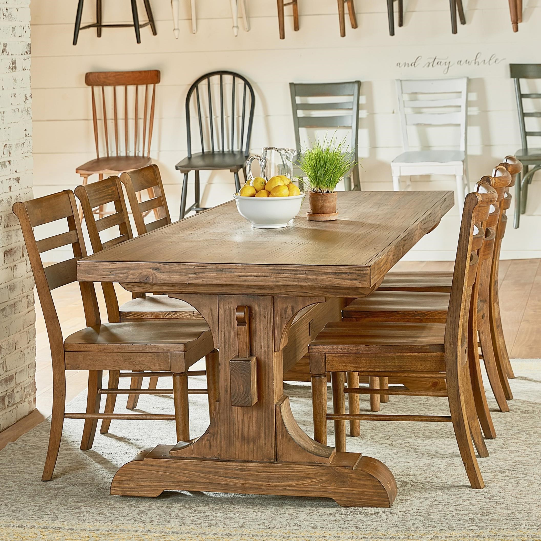 Farmhouse Table And Chairs Set Magnolia Home By Joanna Gaines Farmhouse Seven Piece