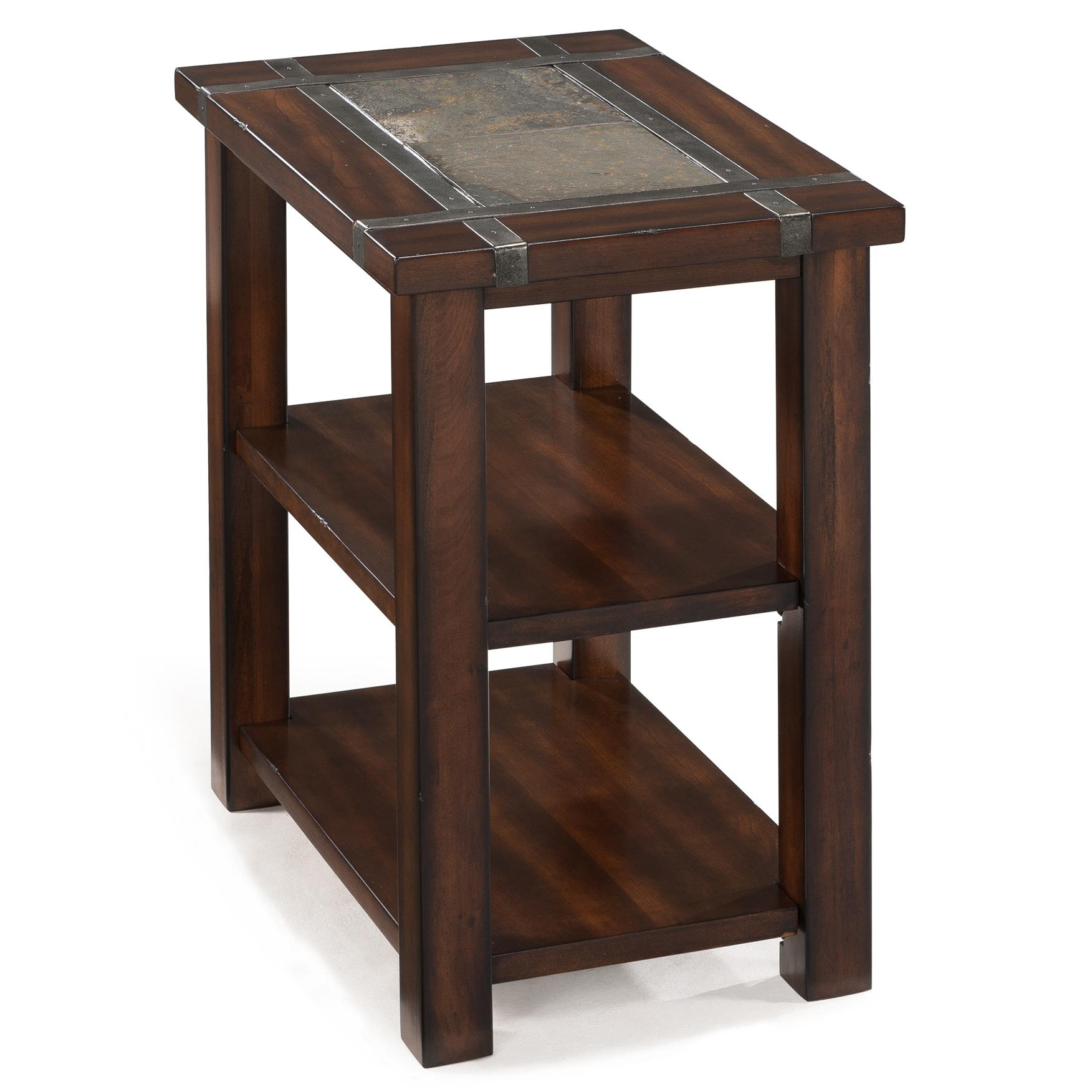 chair side end table wooden chairs pictures roanoke rectangular chairside with 2 shelves