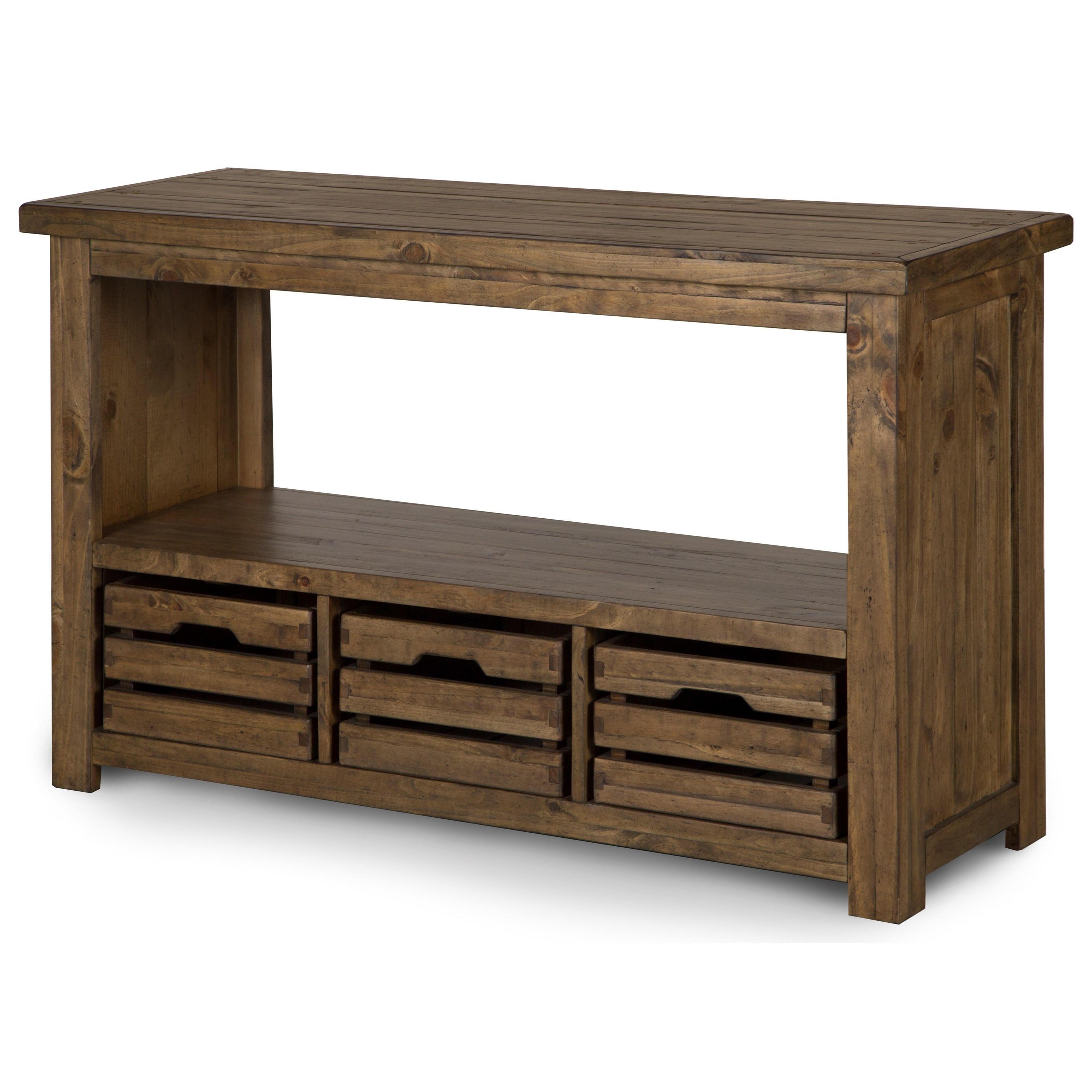 sofa table storage baskets sectional outdoor magnussen home stratton t4481 73 rectangular