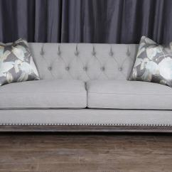 Sofa Nailhead Upholstery Diy Gray Good With Trim 84