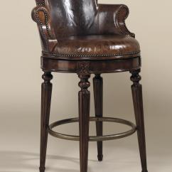 Swivel Chair Regal Vanity With Maitland Smith Bar Stools Aged Regency Finished Mahogany