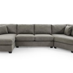 3 Pc Sectional Sofa With Recliners Abbyson Living Max Home Jessica 9ba5 A Chl 43saa 43ccr Gray Casual Three