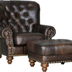 Tufted Chair And Ottoman Danish Kneeling Mayo 931 Traditional With Seat