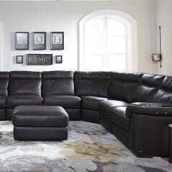 4 Piece Recliner Sectional Sofa Twill Dfs Natuzzi Editions B757 Four Power Reclining