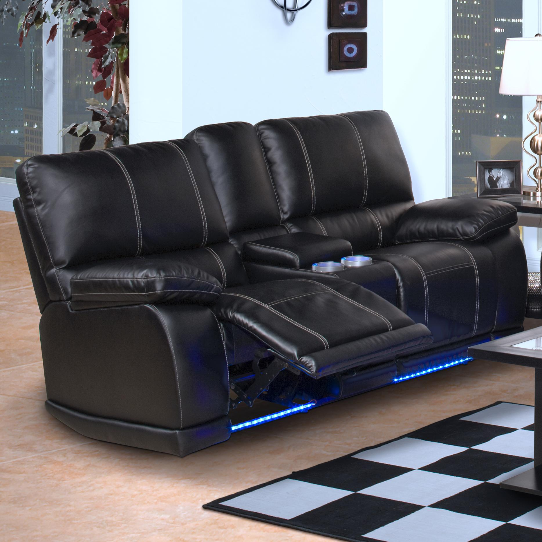 power reclining sofa with cup holders 60 inch long sleeper new classic electra 22 382 25 mbk contemporary