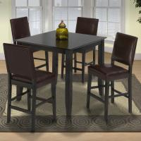 New Classic Style 19 Small Pub Table and Upholstered ...
