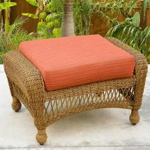 Northcape International Charleston Wicker Outdoor Ottoman