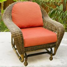 Chicago Wicker Charleston Single Glider Becker