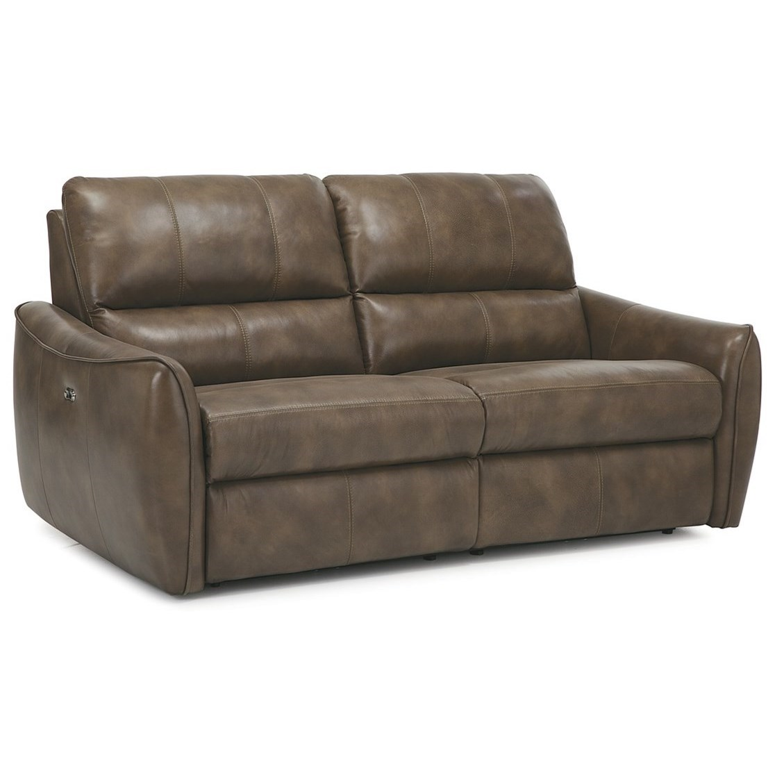 pause modern reclining sectional sofa by palliser standard cushion dimensions arlo contemporary recliner with tapered arms