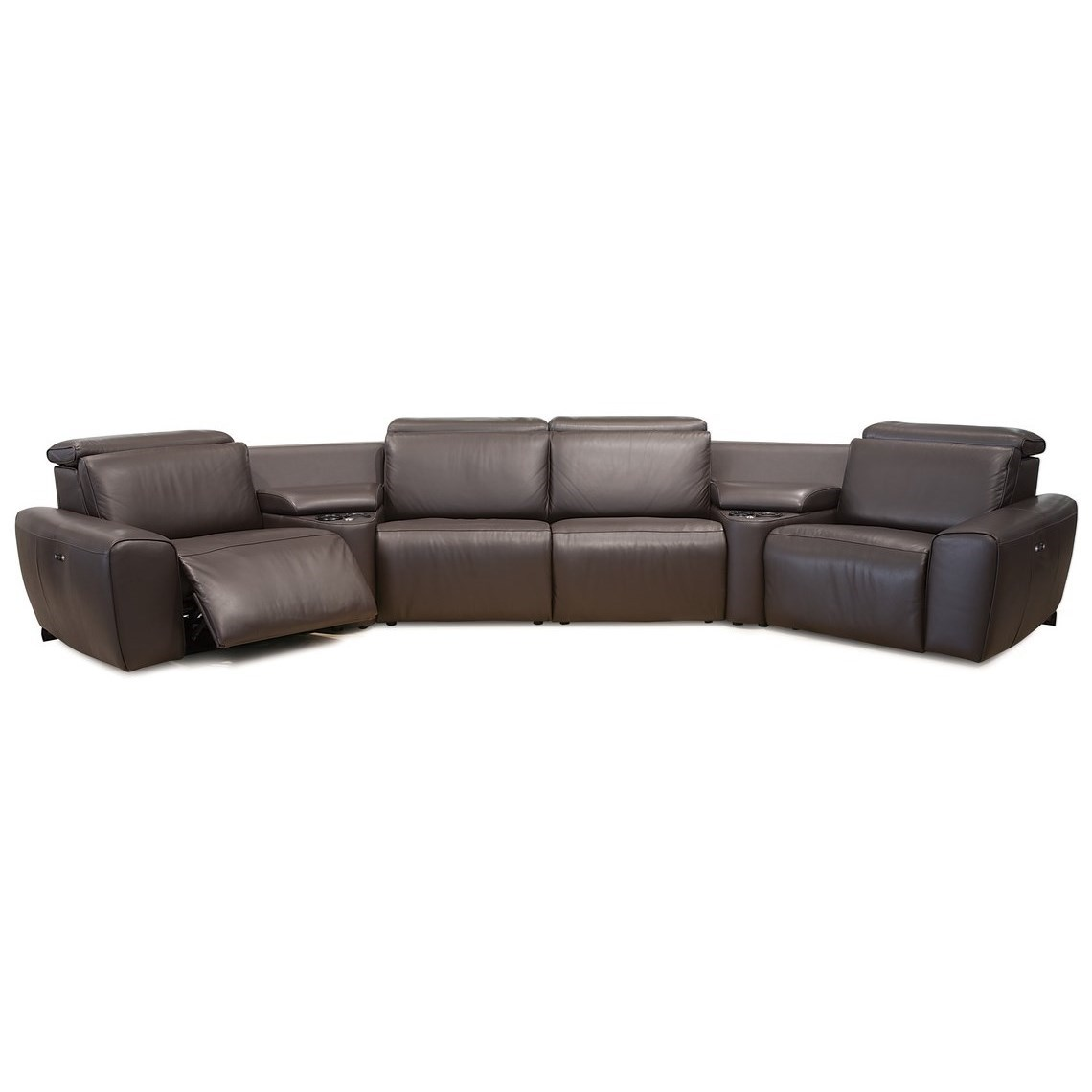 pause modern reclining sectional sofa by palliser standard size in cm beaumont contemporary 4 seat angled