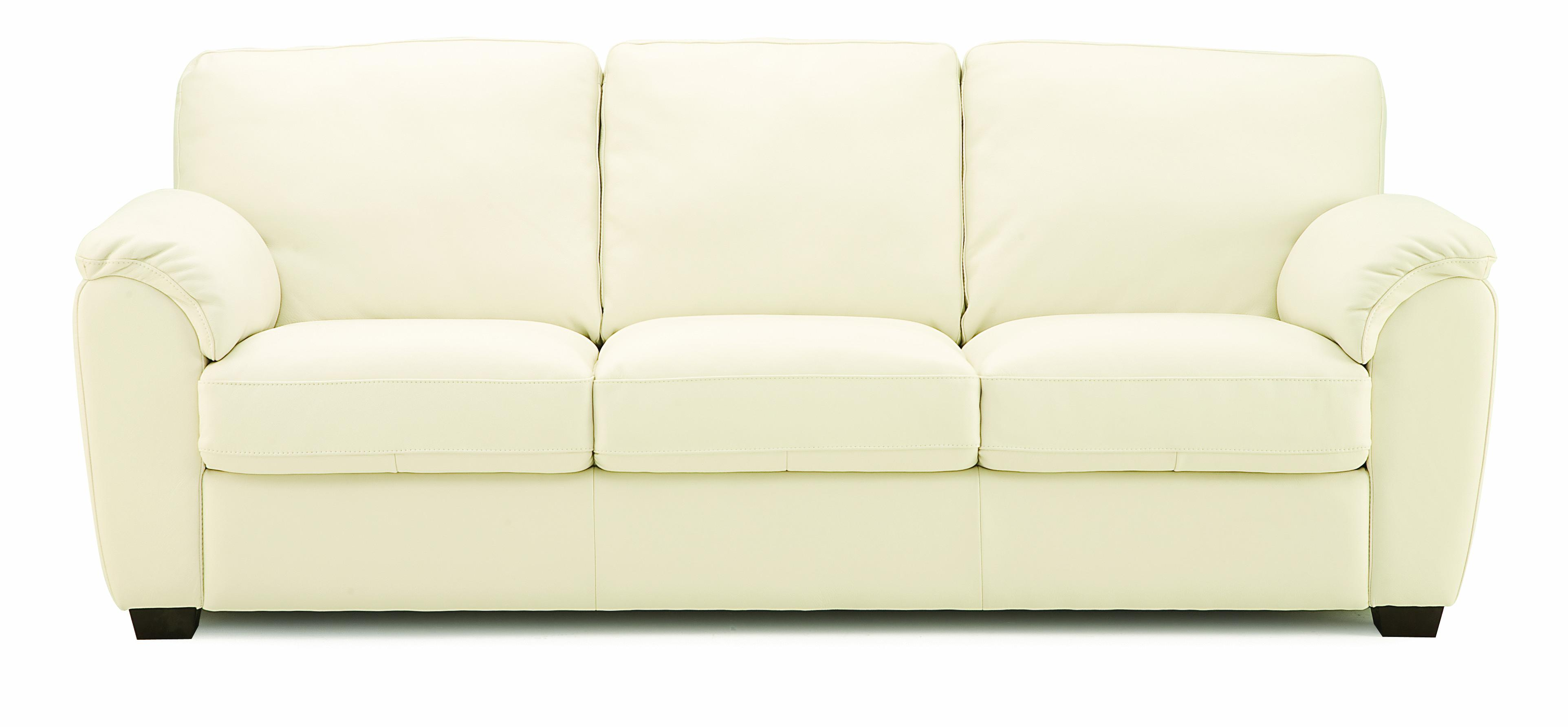 palliser stationary sofas gamma leather sofa lanza casual with sloped pillow arms