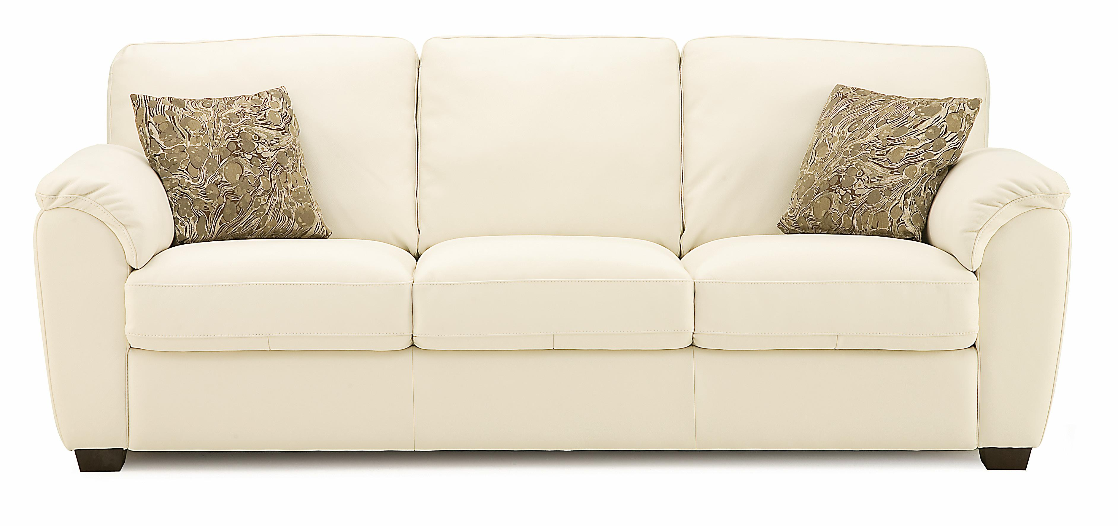 palliser stationary sofas soft line italian leather sofa lanza casual with sloped pillow arms