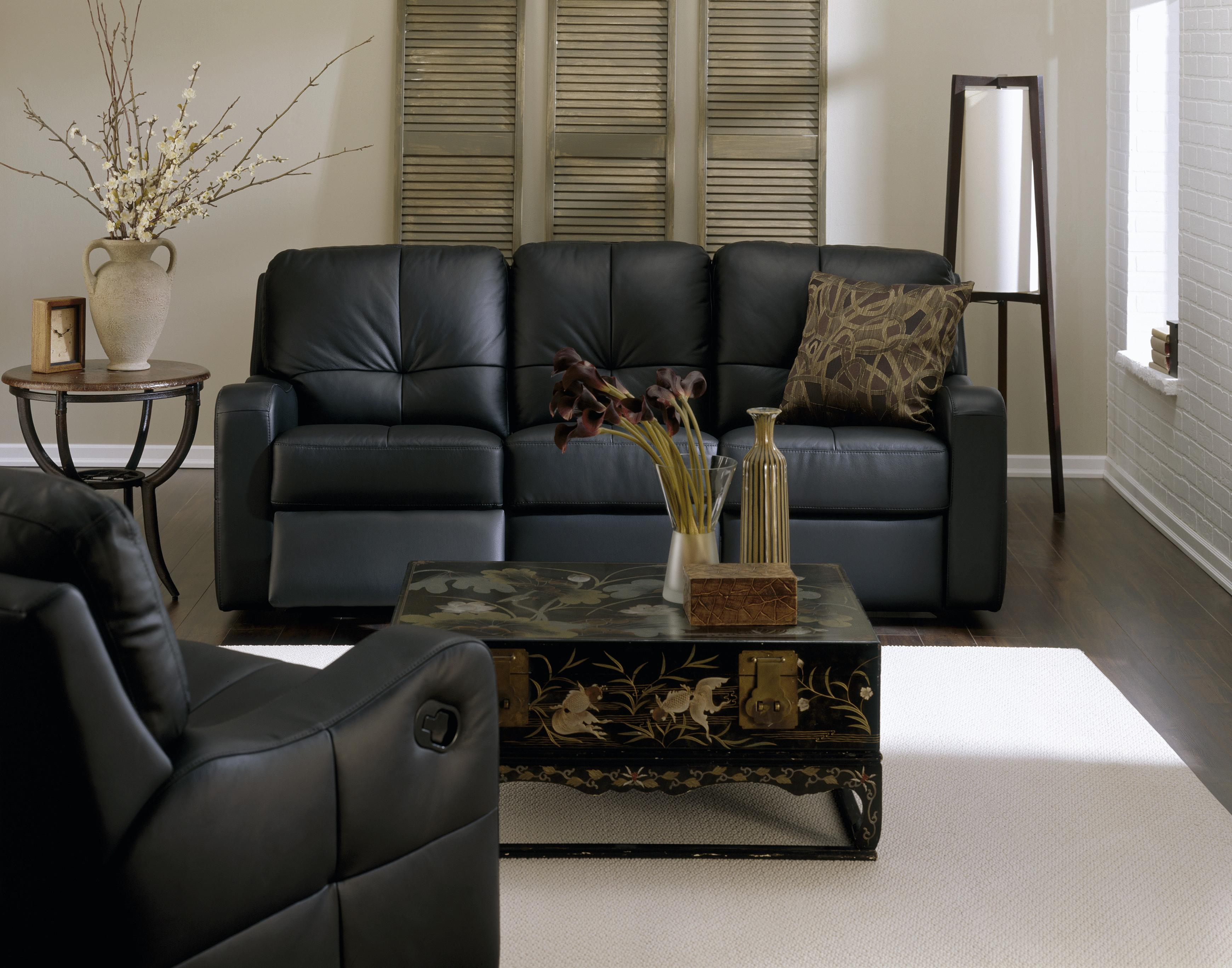pause modern reclining sectional sofa by palliser parts national contemporary recliner with sloped