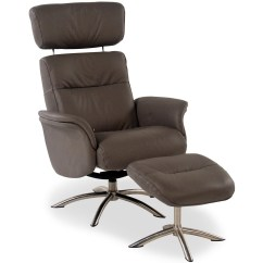 Leather Chair Ottoman Set Steel With Arms Quantum Contemporary Reclining W Swivel