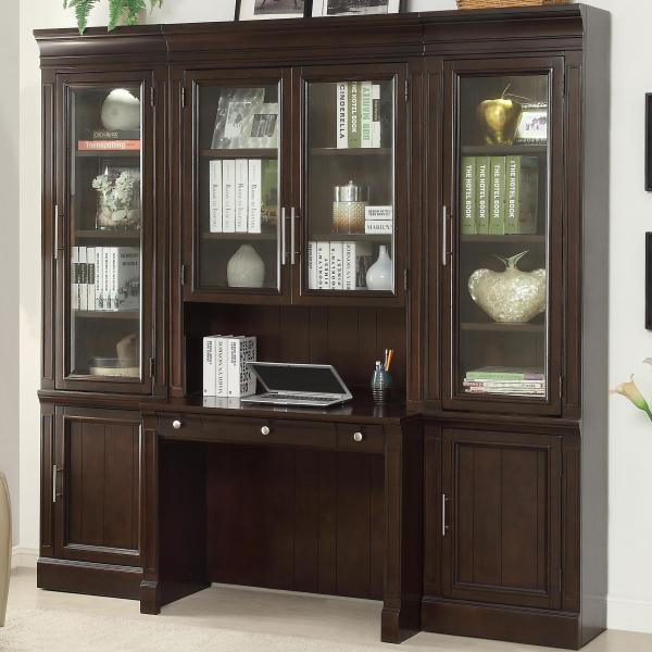 Library Wall Units with Desk