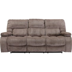 Triple Reclining Sofa Modern Trundle Theo Casual With Pillow Arms