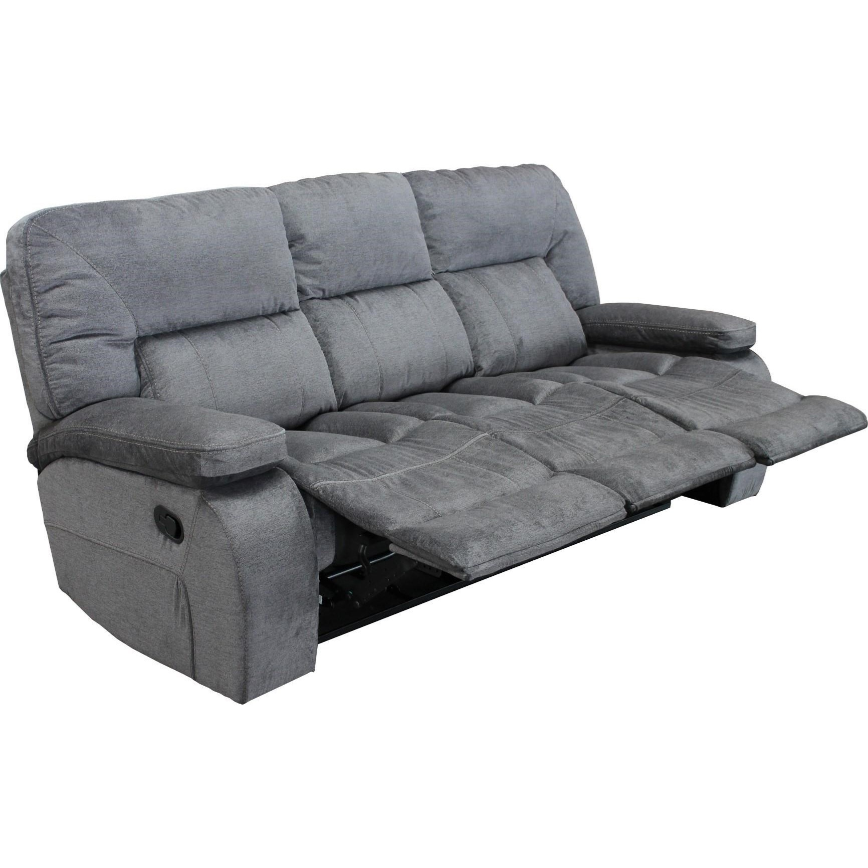 triple reclining sofa marshmallow furniture flip open canada parker living chapman casual with