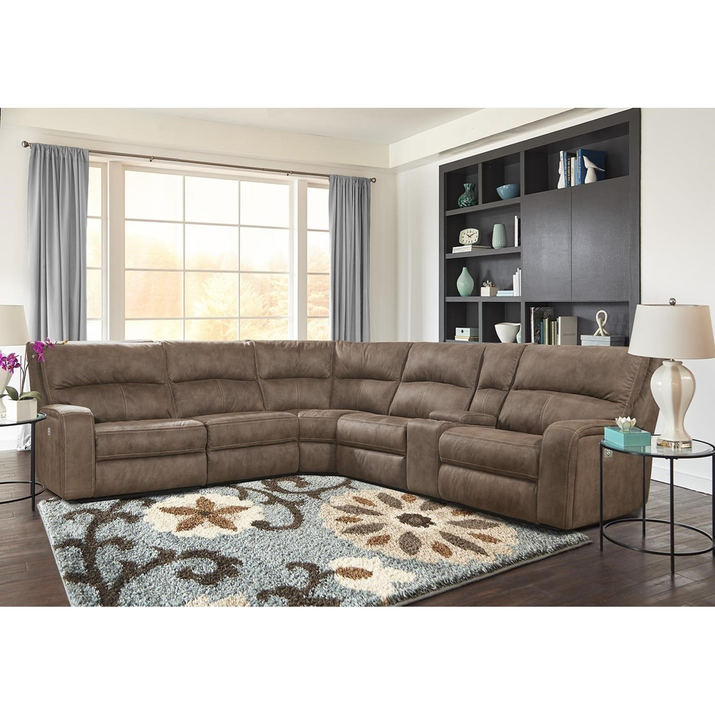 sofa rph roche bobois copy kahlua power reclining sectional with headrests and