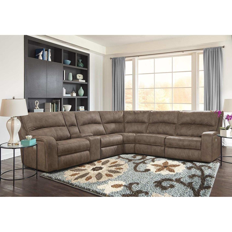 sofa rph bernhardt leather sofas good quality parker living polaris kahlua power reclining sectional