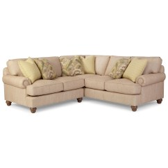 2 Pc Laf Sectional Sofa Rattan Slipcover Paula Deen By Craftmaster P9 Custom Upholstery