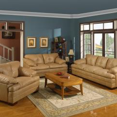 Bad Credit Financing Living Room Furniture Modern Wall Units Primo International Mayfair Mayfas Casual 3 Seat Leather ...