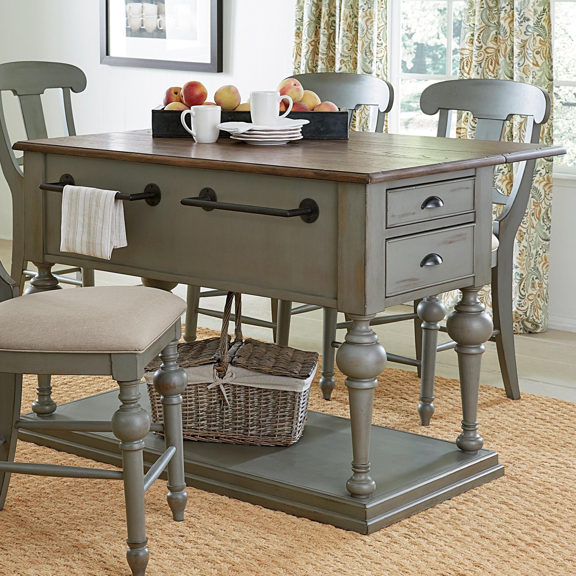 kitchen island with drop leaf clearance outdoor designs progressive furniture colonnades transitional cottage